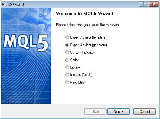"""图 10. 在 MQL5 向导中创建就绪""""EA 交易""""对话框"""